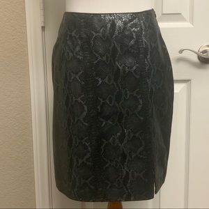 VTG James Stone Grey Snake Textured Mini Skirt